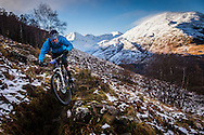 Craig Turner tackles stage one of the Kinlochleven Enduro.
