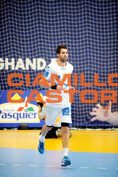 DESCRIZIONE : France Hand D1 Championnat de France D1 a Paris <br /> GIOCATORE : KARABATIC Luka<br /> SQUADRA : Montpellier<br /> EVENTO : FRANCE Hand D1<br /> GARA : Paris Montpellier<br /> DATA : 30/09/2012<br /> CATEGORIA : Hand D1 <br /> SPORT : Handball<br /> AUTORE : JF Molliere <br /> Galleria : France Hand 2012-2013 Action