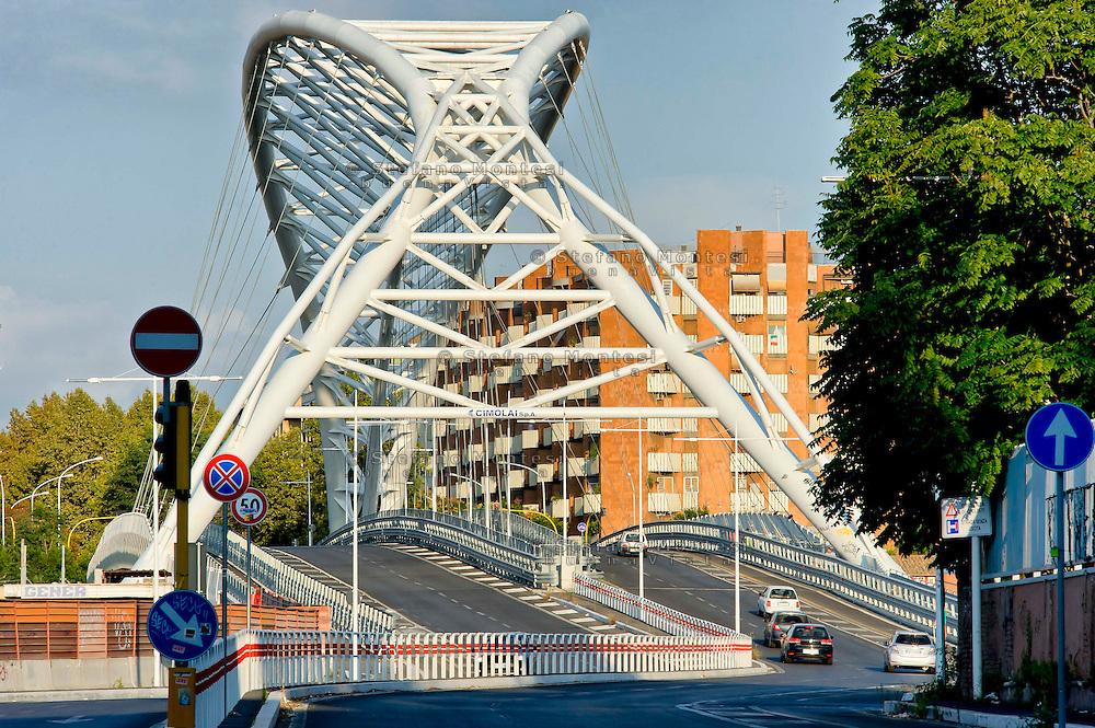 Roma 28 Agosto 2014<br /> Quartiere Ostiense, Cavalcaferrovia Settimia Spizzichino che collega il Quartiere Ostiense con la Garbatella