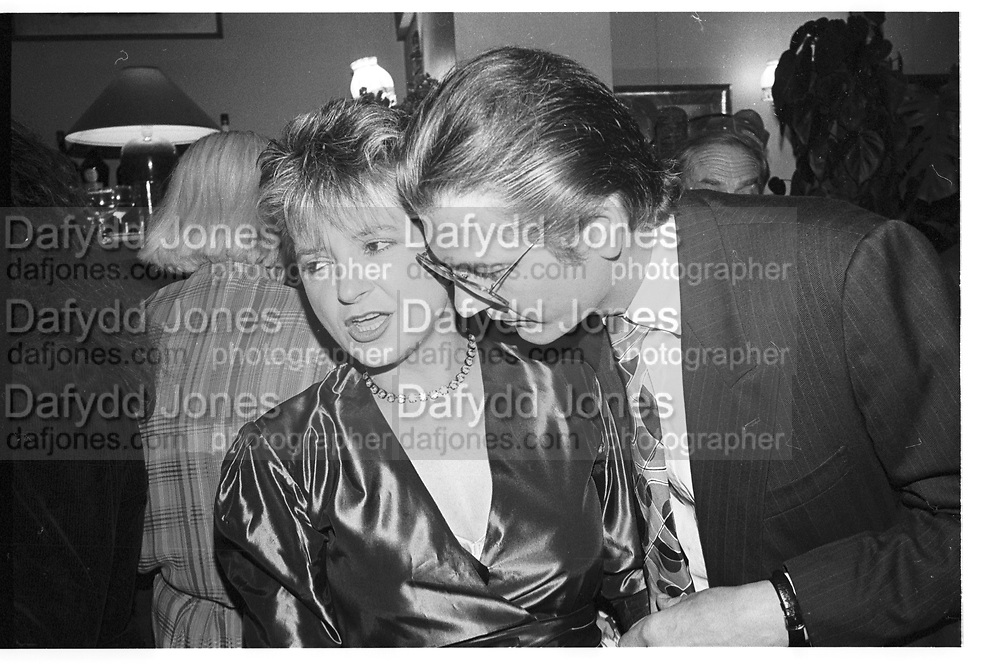 Vicki Woods and her husband Frank. Wedding reception Craig Brown and Frances Welch. Polish Club. London. 10 October 1987. SUPPLIED FOR ONE-TIME USE ONLY> DO NOT ARCHIVE. © Copyright Photograph by Dafydd Jones 66 Stockwell Park Rd. London SW9 0DA Tel 020 7733 0108 www.dafjones.com