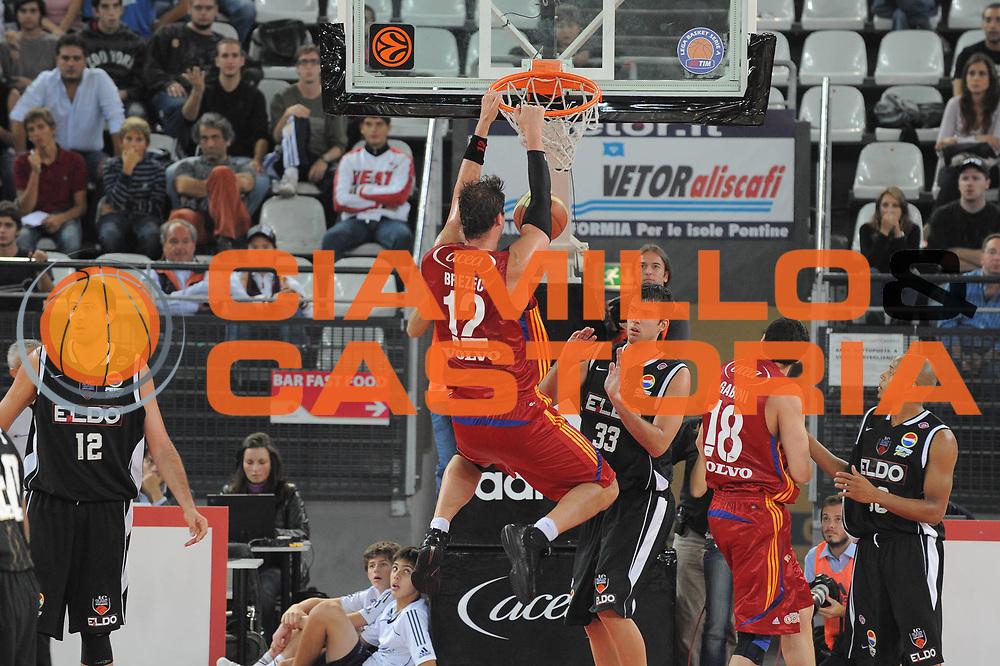 DESCRIZIONE : Roma Lega A1 2008-09 Lottomatica Virtus Roma Eldo Caserta<br /> GIOCATORE : Primoz Brezec<br /> SQUADRA : Lottomatica Virtus Roma<br /> EVENTO : Campionato Lega A1 2008-2009 <br /> GARA : Lottomatica Virtus Roma Eldo Caserta<br /> DATA : 12/10/2008 <br /> CATEGORIA : Schiacciata<br /> SPORT : Pallacanestro <br /> AUTORE : Agenzia Ciamillo-Castoria/G.Ciamillo