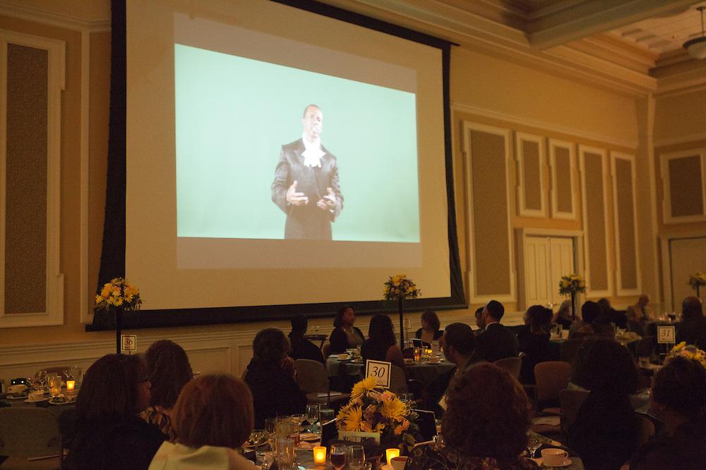 """Celebrating Black Heritage at Ohio University Through the Decades"" at the Black Alumni Reunion Gala in Baker Center on September 28, 2013."