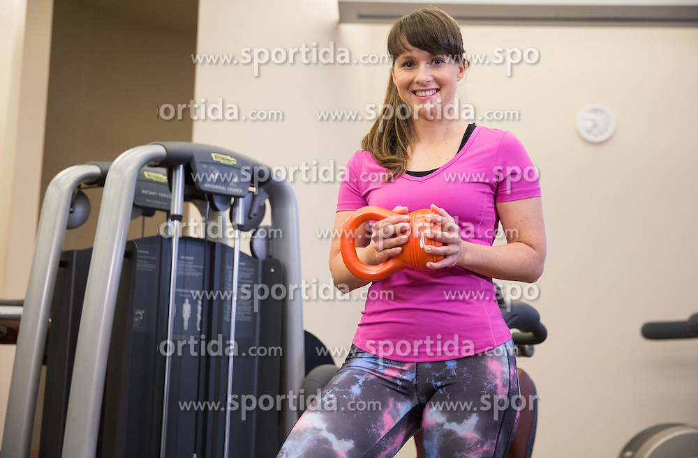 Lidlova Vitalnica z osebno trenerko Hano Verdev.<br /> // Hana Verdev, Personal Trainer during presentation of fitness exercises, on October 20, 2016 in Sunny Studio, Ljubljana, Slovenia. Photo by Vid Ponikvar / Sportida