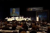 23 OCT 2004, BERLIN/GERMANY:<br /> Uebersicht waehrend der Rede von Angela Merkel, CDU Bundesvorsitzende, Deutschlandtag der Jungen Union, Weser-Ems Halle<br /> IMAGE: 20041023-01-053<br /> KEYWORDS: Parteitag, party congress, speech, Saal, Übersicht
