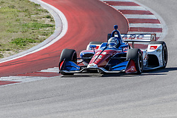 February 12, 2019 - U.S. - AUSTIN, TX - FEBRUARY 12: Tony Kanaan (14) in a Chevrolet powered Dallara IR-12 exits turn 2 during the IndyCar Spring Training held February 11-13, 2019 at Circuit of the Americas in Austin, TX. (Photo by Allan Hamilton/Icon Sportswire) (Credit Image: © Allan Hamilton/Icon SMI via ZUMA Press)