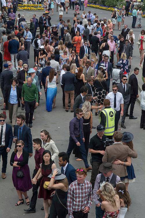 Faces in the crowd, Riccarton Racecourse, Christchurch, New Zealand, Saturday, 14 November, 2015.  <br /> Credit:SNPA / David Alexander