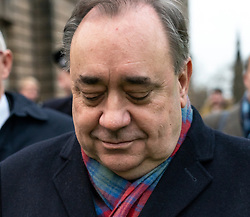Edinburgh, Scotland, UK. 22 January, 2020. Alex Salmond leaves the High Court in Edinburgh after a preliminary trial hearing.