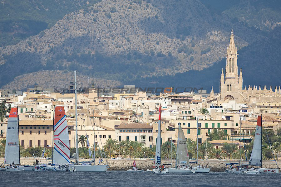 GLOBAL OCEAN RACE 2011-2012.Start of the race in Palma de Mallorca, september 25th 2011