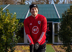 CARDIFF, WALES - Monday, November 18, 2019: Wales' Kieffer Moore during a training session at the Vale Resort ahead of the final UEFA Euro 2020 Qualifying Group E match against Hungary. (Pic by David Rawcliffe/Propaganda)