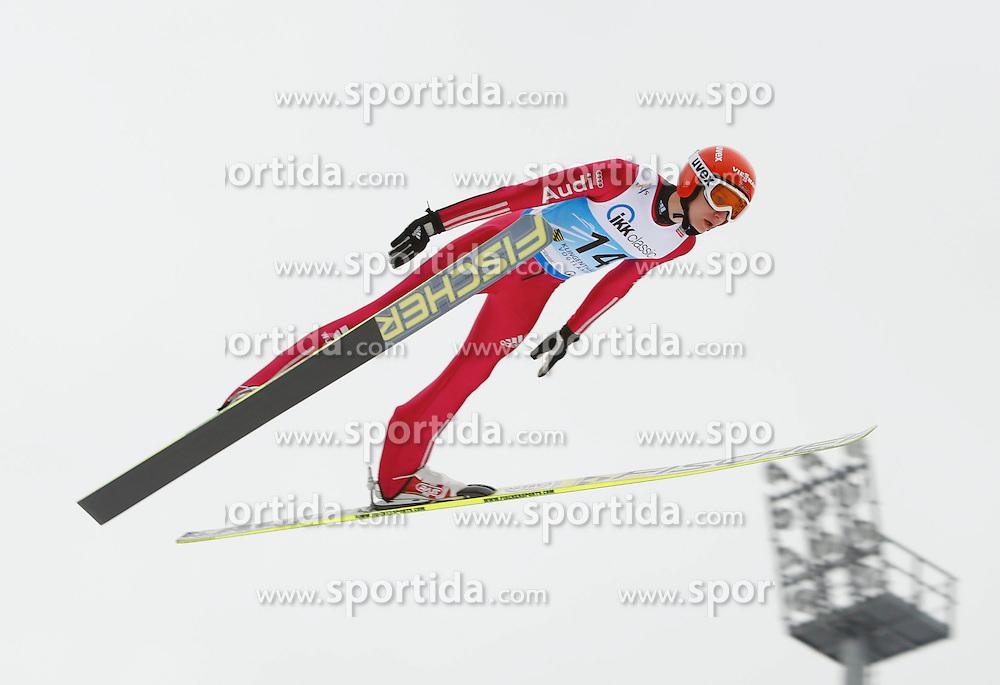 13.02.2013, Vogtland Arena, Kingenthal, GER, FIS Ski Sprung Weltcup, im Bild Karl Geiger, Deutschland // during the FIS Skijumping Worldcup at the Vogtland Arena, Kingenthal, Germany on 2013/02/13. EXPA Pictures © 2013, PhotoCredit: EXPA/ Eibner/ Ingo Jensen..***** ATTENTION - OUT OF GER *****