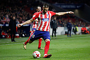 Atletico Madrid's Belgian midfielder Yannick Ferreira-Carrasco kicks the ball during the Spanish Cup, Copa del Rey quarter final, 1st leg football match between Atletico Madrid and Sevilla FC on January 17, 2018 at Wanda Metropolitano stadium in Madrid, Spain - Photo Benjamin Cremel / ProSportsImages / DPPI