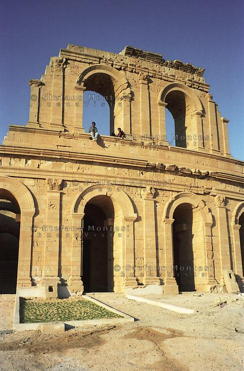Libia  Sabratha .Città  romana a circa 67km da Tripoli.Teatro Romano.<br /> Sabratha Libya.Roman city about 67km from Tripoli.<br /> Roman Theatre