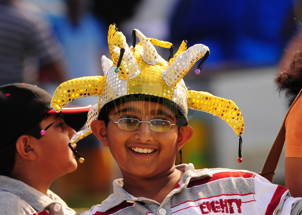 EAST LONDON, SOUTH AFRICA - 1 May 2009.  A spectator during the  IPL Season 2 match between the Mumbai Indians and the Kolkata Knight Riders held at Buffalo Park in East London. South Africa...
