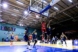 Christopher Taylor of Bristol Flyers leaps for the basket - Mandatory by-line: Robbie Stephenson/JMP - 05/10/2018 - BASKETBALL - University of Worcester Arena - Worcester, England - Bristol Flyers v Worcester Wolves - British Basketball League