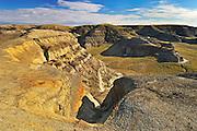 Badlands from the top of Castle Butte<br /> Big Muddy Badlands<br /> Saskatchewan<br /> Canada