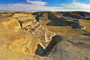 Badlands from the top of Castle Butte<br /> Big Muddy Badlands<br /> Saskatchewan<br /> Canada