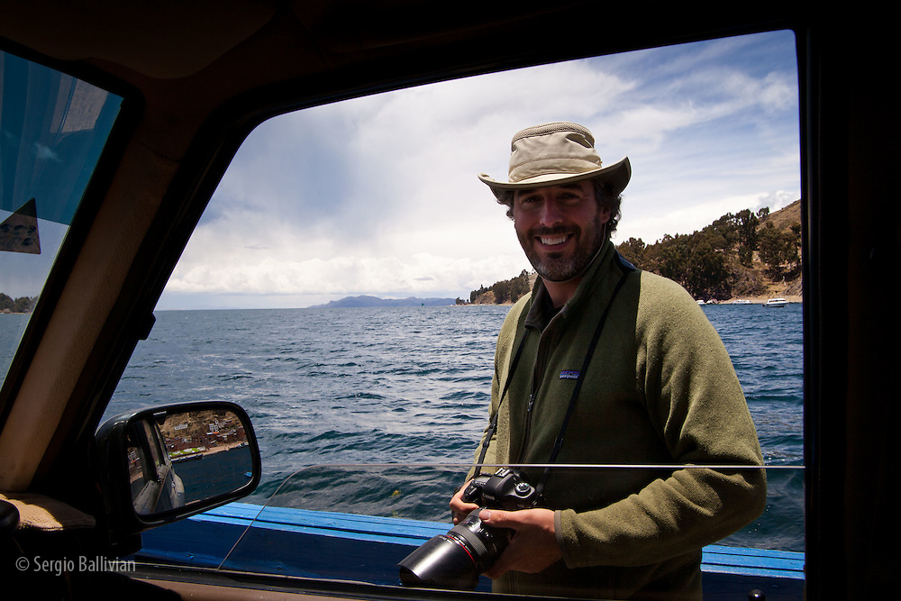 The Strait of Tiquina is where hand-made motorized barges help cross vehicles and people from the mainland to the Peninsula of Copacabana year-round.  The trip is short, slow, and very scenic.