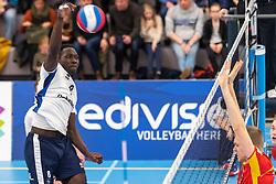 16-03-2019 NED: Sliedrecht Sport - Draisma Dynamo, Sliedrecht<br /> Round 5 of champion pool Eredivisie - Dynamo win 3-1 of Sliedrecht / David Azantilow #1 of Sliedrecht Sport