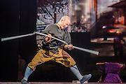 "Twenty Shaolin monks, from their  temple in the foothills of the Song Shang mountain range in China's Henan province, take to the stage to demonstrate their martial arts expertise in an 'awe-inspiring' performance. SHAOLIN is a display of theatre and physical prowess in which the cast perform ""superhuman"" feats. The show combines traditional Shaolin Kung Fu, inch perfect choreography with dramatic lighting and sound that evokes the spirit of their tradition – their Temple being the birthplace of Kung Fu.  These are the very best Shaolin Kung Fu experts on the planet and they have come together to create this show. The Shaolin Monks are lifted aloft on sharpened spears, break marble slabs with their heads, perform handstands on two finger tips,splinter wooden staves with their bodies, break bricks on their heads and fly through the air in a series of incredible back flips. The show embarks upon a three-week run at The Peacock Theatre, London from 29 September – 17 October 2015."