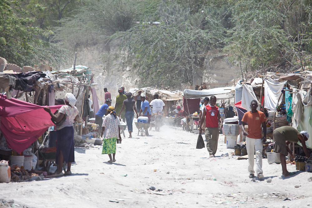 A street market in Anse a Galet, Ile de la Gonave, Haiti