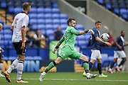 Mark Howard (Bolton Wanderers) clears the ball during the Pre-Season Friendly match between Bolton Wanderers and Preston North End at the Macron Stadium, Bolton, England on 30 July 2016. Photo by Mark P Doherty.