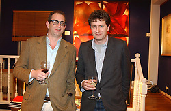 Left to right, brothers WILLIE STIRLING and LUDO STIRLING at an exhibition of portraits by Charmian Campbell held at Lucy B Campbell Fine Art, 123 Kensington Church Street, London W8 on 8th February 2005.<br /><br />NON EXCLUSIVE - WORLD RIGHTS