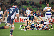 Nic Stirzaker (Rebels) in action during the Round 14 match of the 2013 Super Rugby Championship between RaboDirect Rebels vs DHL Stormers at AAMI Park, Melbourne, Victoria, Australia. 17/05/0213. Photo By Lucas Wroe