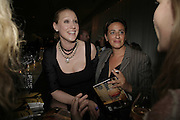 AMY SACCO AND INDIA MAHDAVI, Amy Sacco. American nightclub promoter. Book launch party for 'Cocktails' Sanderson Hotel, Berners Street, London,10 July 2006. ONE TIME USE ONLY - DO NOT ARCHIVE  © Copyright Photograph by Dafydd Jones 66 Stockwell Park Rd. London SW9 0DA Tel 020 7733 0108 www.dafjones.com