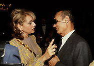 Moshe Dayan and Barbara Walters at a state dinner on April 8, 1980<br /> <br /> Photograph by Dennis Brack<br /> bb45