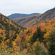 Crawford Notch in the heart of the <br /> White Mountains of NH, at the height of fall color.