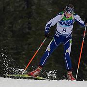 Winter Olympics, Vancouver, 2010.Tanja Karisi, Bosnia & Herzegovina, in action during the Women's 7.5 KM Sprint Biathlon at The Whistler Olympic Park, Whistler, during the Vancouver  Winter Olympics. 13th February 2010. Photo Tim Clayton