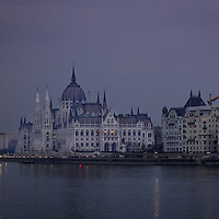 Purple Haze.  The Parliament building in Budapest captured just after sunset on an overcast day in late November.
