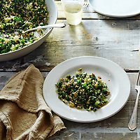 crispy brown rice salad kabbouleh with kale