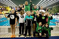 Team of PK Ilirija at Winter National Swimming championships of Slovenia for U11, on February 7, 2010 in Bazen Tivoli, Ljubljana, Slovenija. (Photo by Vid Ponikvar / Sportida)