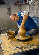 Making terrecota pots at Fabio Fattorini Ceramics in Italy