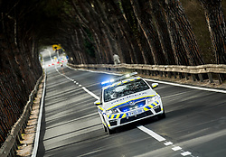 Police during the UCI Class 1.2 professional race 4th Grand Prix Izola, on February 26, 2017 in Izola / Isola, Slovenia. Photo by Vid Ponikvar / Sportida