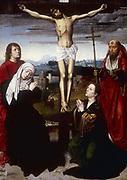 Crucifixion.  Gerard David (active 1483-1523) Flemish painter.