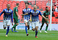 Football - 2019 Buildbase FA Vase Final - Chertsey Town vs. Cray Valley Paper Mills<br /> <br /> Jake Baxter of Chertsey celebrates scoring his penalty goal, at Wembley Stadium.<br /> <br /> COLORSPORT/ANDREW COWIE