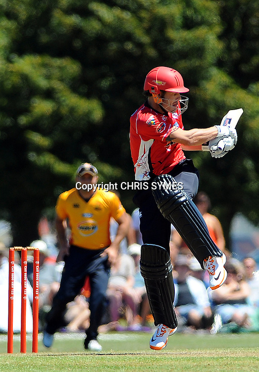 Canterbury player Rob Nicol during the HRV Twenty20 match. Canterbury Wizards v Wellington Firebirds, Hagley Park Oval, Christchurch. Sunday 15 January 2012. Credit Chris Symes/www.photosport.co.nz