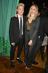 NAT TONG and sister BECKY TONG at an Evening of Riviera Inspired Glamour in aid of CLIC Sargentheld at Sketch, 9 Conduit Street, London on 25th January 2016.