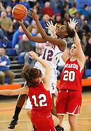 Chester's Mardelle Jean (12) takes a shot against Tuxedo during the Section 9 Class C girls' basketball championship game at SUNY New Paltz on Friday, March 1, 2013.