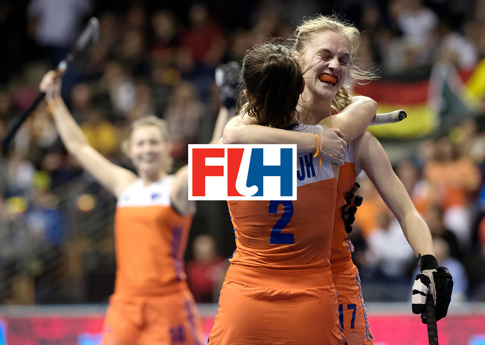 BERLIN - Indoor Hockey World Cup<br /> Quarterfinal 4: Netherlands - Czech Republic<br /> foto: Elin van Erk celebrates.<br /> WORLDSPORTPICS COPYRIGHT FRANK UIJLENBROEK