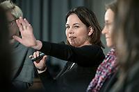 14 JAN 2019, BERLIN/GERMANY:<br /> Annalena Baerbock, MdB, B90/Gruene Budnesvorsitzende, Veranstaltung der Konrad-Adenauer-Stiftung, KAS, &quot;Frauenpolitik - Auftrag fuer morgen!&quot;, Sheraton Hotel <br /> IMAGE: 20190114-01-109
