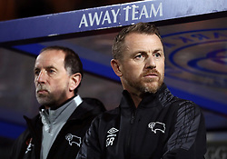 "Derby County manager Gary Rowett (right) and assistant Kevin Summerfield during the Sky Bet Championship match at Loftus Road, London. PRESS ASSOCIATION Photo. Picture date: Tuesday March 6, 2018. See PA story SOCCER QPR. Photo credit should read: Tim Goode/PA Wire. RESTRICTIONS: EDITORIAL USE ONLY No use with unauthorised audio, video, data, fixture lists, club/league logos or ""live"" services. Online in-match use limited to 75 images, no video emulation. No use in betting, games or single club/league/player publications."