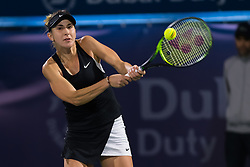 February 21, 2019 - Dubai, ARAB EMIRATES - Belinda Bencic of Switzerland in action during her quarter-final match at the 2019 Dubai Duty Free Tennis Championships WTA Premier 5 tennis tournament (Credit Image: © AFP7 via ZUMA Wire)