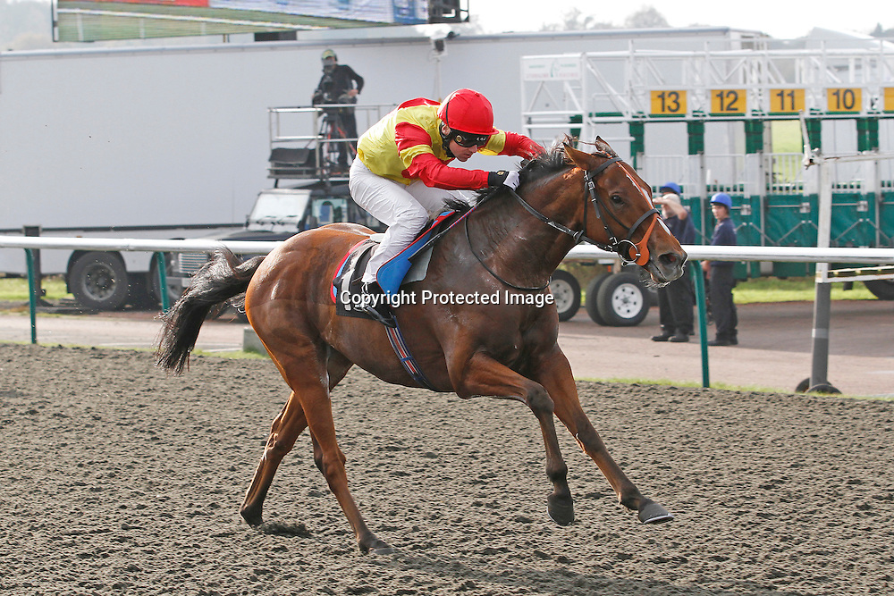 Hurricane Hymnbook and Stevie Donohoe winning the 12.00 race