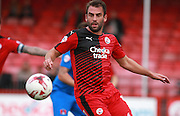 Crawley Town midfielder Simon Walton looks to bring the ball under control during the Sky Bet League 2 match between Crawley Town and Leyton Orient at the Checkatrade.com Stadium, Crawley, England on 10 October 2015. Photo by Bennett Dean.