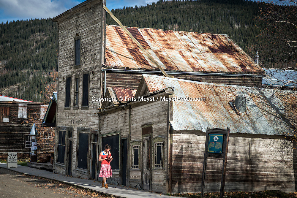 Dawson City, Yukon Territory, Canada, September 2014. Dawson City was the epi centre during the Klondike Gold rush. Today the town is a mix of historical buildings, tourist attractions and current day gold miners. With scenic drives in abundance, the Yukon Territory is a driver's dream. The territory boasts a network of well-maintained highways leading through an exhilarating combination of postcard scenery, historic communities, cultural attractions and adventure outings.The Yukon Territory received world fame during the Klondike Gold Rush in 1898.  Photo by Frits Meyst / MeystPhoto.com