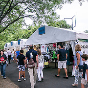 August 25, 2016, New Haven, Connecticut: <br /> Sponsor booths are shown during Day 7 of the 2016 Connecticut Open at the Yale University Tennis Center on Thursday, August  25, 2016 in New Haven, Connecticut. <br /> (Photo by Billie Weiss/Connecticut Open)