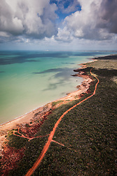 Wet season clouds gather over the water in Roebuck Bay, south of Broome